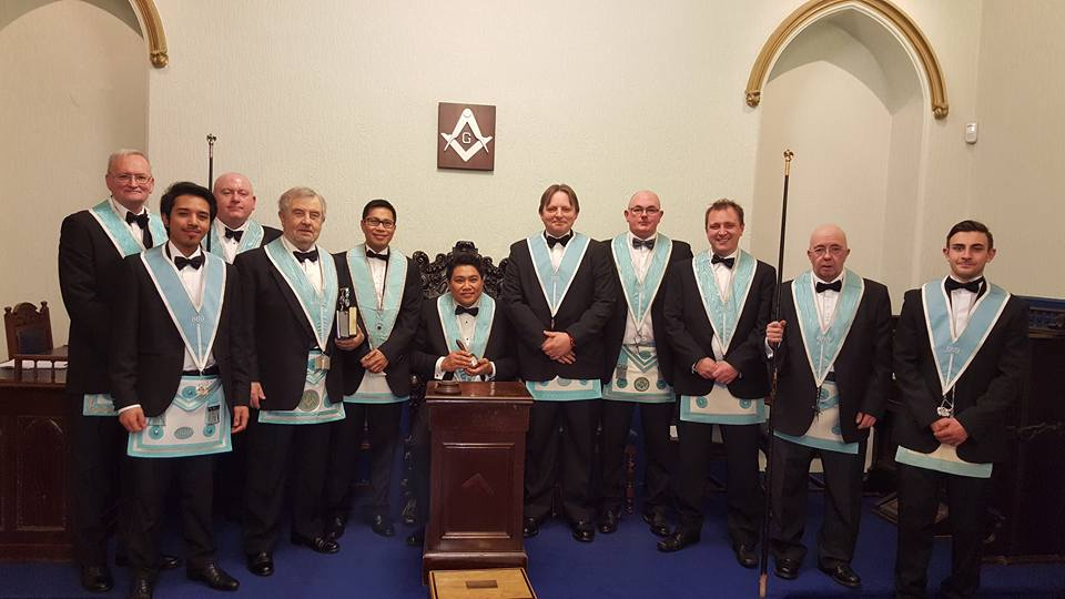 Sir George Clarke Memorial lodge 669 instalation