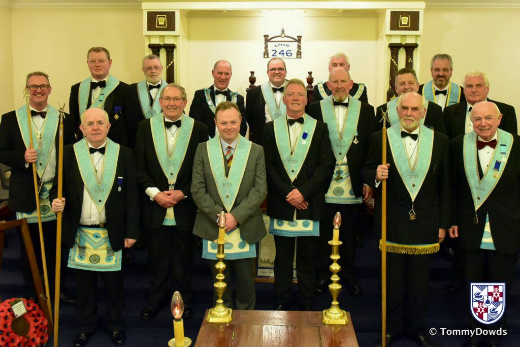 Installation of Officers in Thiepval Memorial Lodge 1020