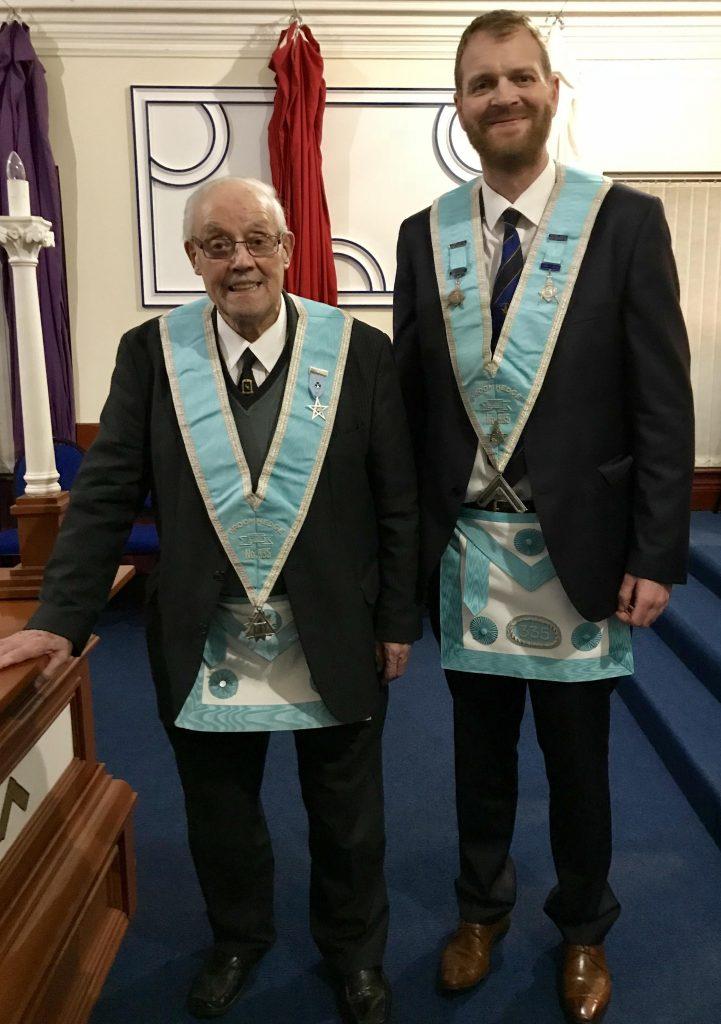 W Bro. Jimmy Skelton – fifty year jewel