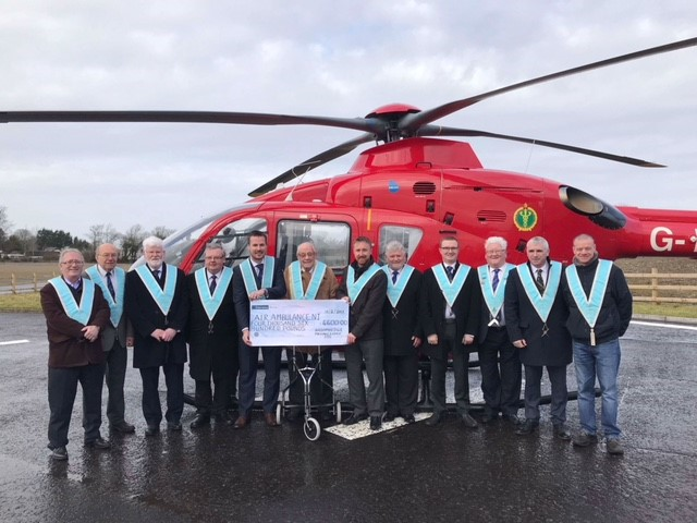 Star of the North Masonic Lodge no.335 Raise funds for Air Ambulance