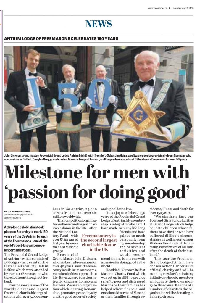 'Milestone for men with passion for doing Good' 150th Anniversary